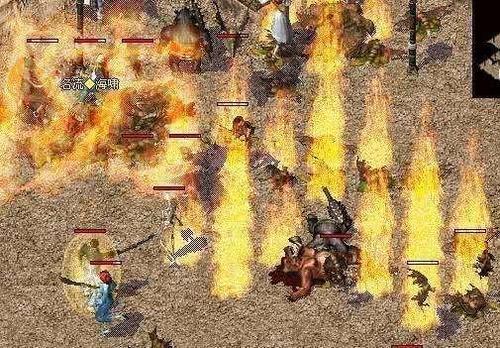 热血传奇:初学者玩家去地图里边打怪,一方面是想多累积一些经验